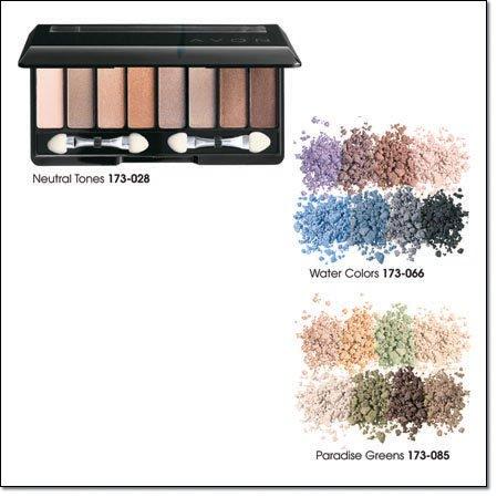 Avon 8 in 1 Eye Palette ~ Paradise Greens ~ Eyeshadow Eye Shadow Discontinued