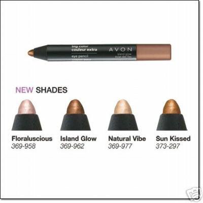 Avon Big Color Eye Pencil Eyeliner ~ Island Glow ~ Eyeshadow Liner