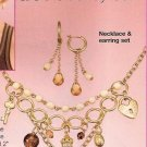 Avon Charming Gift Set Necklace Pierced Earrings Jewelry Costume Goldtone