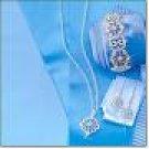 Avon Lace Motif Stretch Bracelet Silvertone Costume Jewelry Christmas HTF