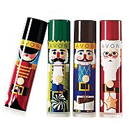 Avon Lip Balm Winter Treats Santa Orange Tube Frosted Cookie location13