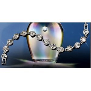 Avon Silvertone Tennis Bracelet Beautiful Jewelry location5