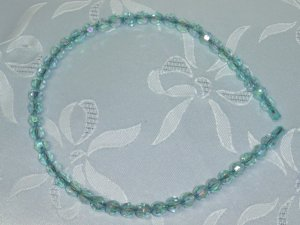 Blue Aurora Borealis Crystal Beaded Headband Hair band hair jewelry