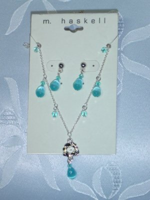 HASKELL EARRINGS & NECKLACE SET~MIRIAM HASKELL