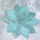 Dusty Teal~ Leatherette/Vinyl hair jewelry Barrette~ Claires Boutique~ Hair Barrette