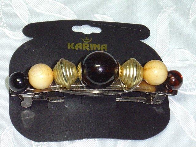 Karina Brand~beaded luxe hair jewelry barrette~Designer Karina