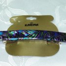 KARINA MADE IN FRANCE STAMPED FOILED HAIR JEWELRY BARRETTE- LONG BARRETTE