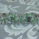 BEAUTIFUL BUTTERFLIES GREEN RHINESTONE FILIGREE BARRETTE