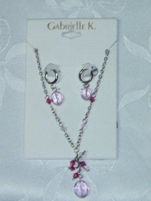 GABRIELLE K. (MIRIAM HASKELL COMPANY) NECKLACE AND EARRINGS SET
