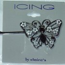 ICING BY CLAIRES~LARGE BUTTERFLY BOBBI PIN HAIR JEWELRY PIN