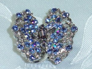 BLUE SWAROVSKI CRYSTAL ELEMENTS MEDIUM ACCENT HAIR JEWELRY CLAW~PROM