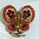 RED SWAROVSKI CRYSTAL Elements ACCENT HAIR JEWELRY CLAW CLIP