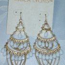 ERIC LYONS TRUNK SHOW WHITE BEADED CHANDELIER EARRINGS~SUMMER WHITE
