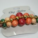 CHEZ ROBERE FRENCH CLIP EARTH TONE BEADED BARRETTE