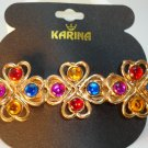 KARINA ~VINTAGE MULTI COLOR FRENCH CLIP HAIR BARRETTE