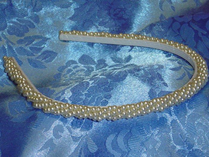 Luxe Simulated Pearls Hiar band headband tiara wedding $48 value