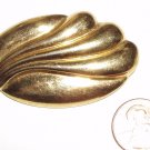 VINTAGE PIN BROOCH Monet Signed Golden Oval Swirls