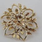 VINTAGE PIN BROOCH Peta-Lure Sarah Coventry Golden Leaves Leaf Flower