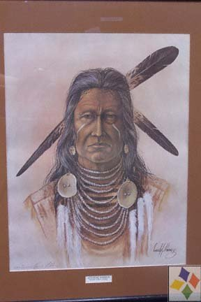 Native American Indian warrior picture-Surreal Painting (View Exhibit)
