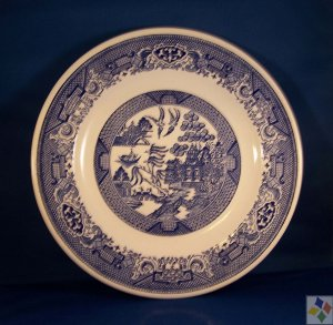 Blue Willow Plate by Royal China/Cavalier Ironstone USA