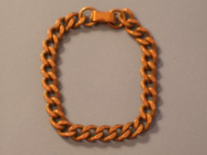 Vintage Solid Copper Curb Link Bracelet 15 grams