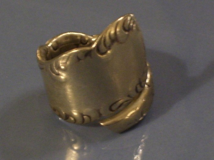Vintage Big Sterling Silver Spoon Ring Size 6