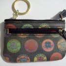 DOONEY & BOURKE Small Black Medallion Coin Card Slot Key Holder Case