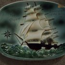 The Clipper Sovereign of the Seas Wall Deco Plate Plaque Vintage