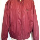 Vintage MEMBERS ONLY Burgundy Rider Bomber Motorcycle Sport Polyester Cotton Knit Trim Jacket 44