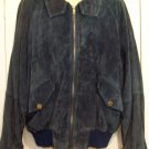 Vtg AUSTIN by MAX JULIAN Navy Blue Bomber Motorcycle Sport Leather Suede Jacket M