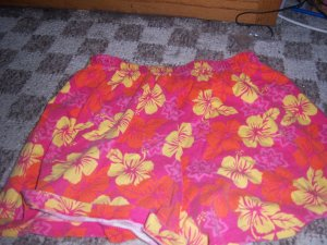 Flower printed shorts size XL 14/16 Girls