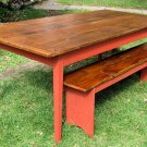 Pine Farm Table from Reclaimed Lumber