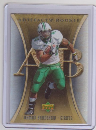 AHMAD BRADSHAW 2007 UD ARTIFACTS ROOKIE CARD