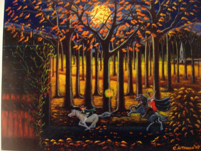 Halloween Art Print The Headless Horseman