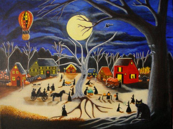 Halloween Art Print Hauntoberfest at Brewside Village