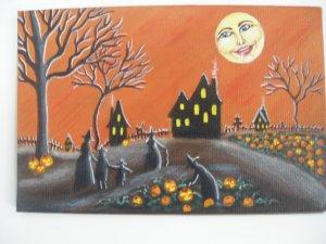 Art Print Halloween  Ripening Jack O Lanterns