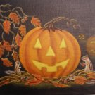 "Art Print Halloween  ""Autumn Surprise"""