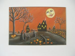 Art Print Halloween -Ripening Jack O Lanterns