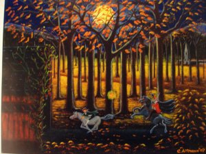 Art Print  Halloween The Headless Horseman