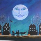 Art print Halloween Witch Moon