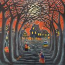 Art Print Halloween  Home to Broomtree