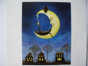 Halloween Art Print Titled Salem's Star