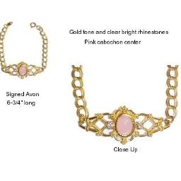 Avon Pink Cabochon Bracelet