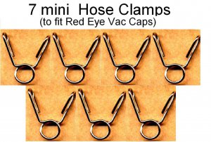 7 Mini Hose Clamps for  Valkyrie, Happy Fingers Type, GL1500C GL1500CD GL1500CT GL1500CF