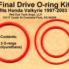 Final Drive O-rings for Valkyrie, Polyurethane, GL1500C GL1500CD GL1500CT GL1500CF