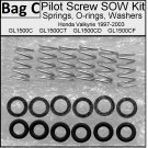 Pilot Screw SOW Kit  Fits Valkyrie, Viton GF. GL1500C GL1500CD GL1500CT GL1500CF