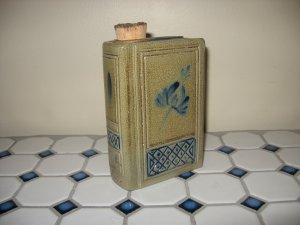2008 Rowe Pottery Historical Collection Book Flask