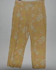 Ann Taylor Yellow Floral Capri Pants sz 6 Spring