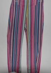 Express Multi-Colored Striped Cropped Pants sz 3/4