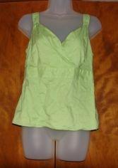 Womens GAP Lime Green Criss Cross Tank sz Med